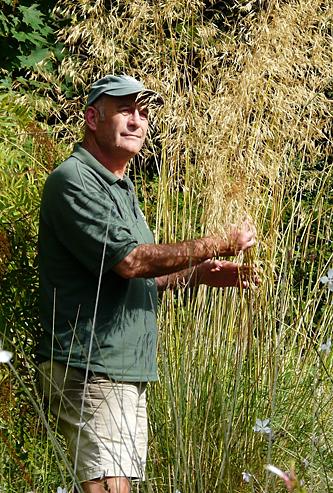 Neil Lucas in the Gravel Garden at Knoll
